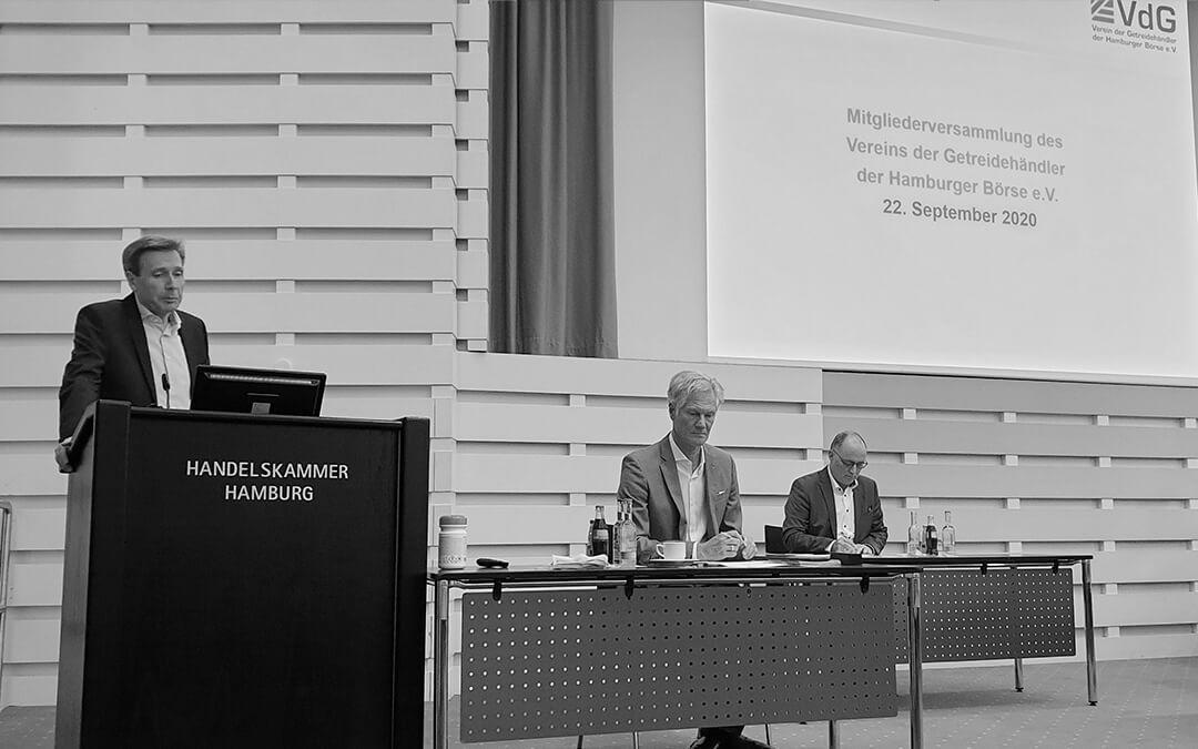 Verein der Getreidehändler der Hamburger Börse e.V. wählt Vorstand und blickt auf das von der Pandemie geprägte Branchenjahr zurück